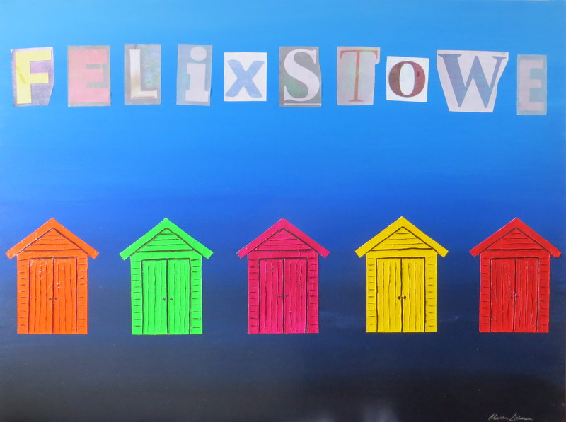 Painting Commission – Felixstowe Beach Huts